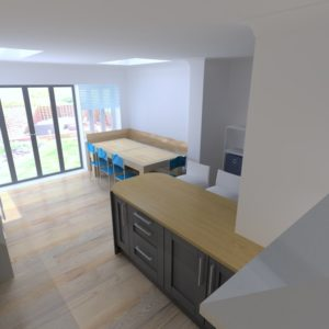 3D visual for K2 Kitchen