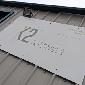 K2 Kitchens and Interiors Ramsgate showroom Exterior sign